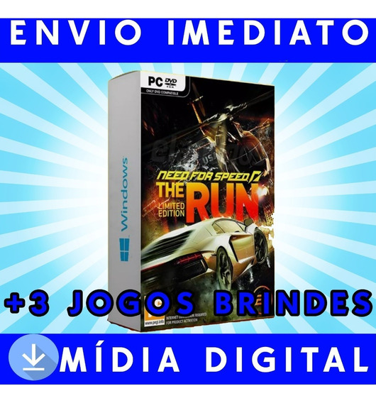 Need For Speed The Run Pc Digital +3 Jogos Brindes