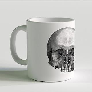 Taza Skull White Marca Mecánico Jeans