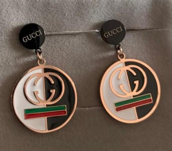 Brinco Gucci G G Luxo Feminino Dourado Pequeno