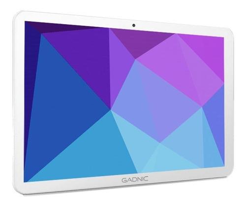 """Tablet  con funda Gadnic Taurus Phone TAB0024C 10.1"""" 32GB blanca con 2GB de memoria RAM"""
