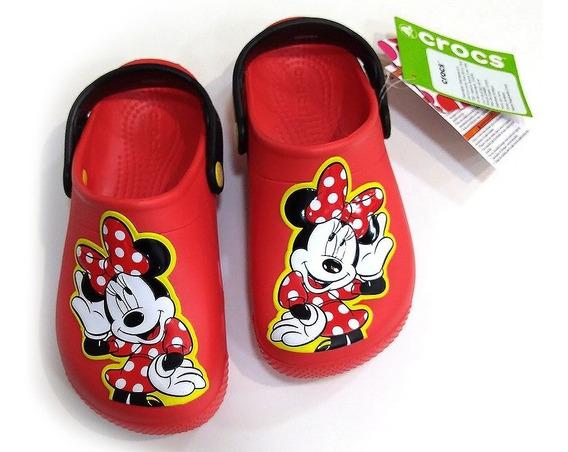 Crocs De Niña Minnie Mouse. Talla Unica J3 Mide 24 Cm