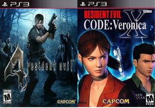 Resident Evil 4 + Code: Veronica X - Subtitulado Español Ps3