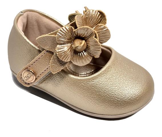 Sapatilha Infantil Klin Cravinho Princess Flores - Rose