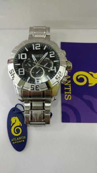 Relógio Atlantis Prata Estilo Technos Legacy Frete Gratis Cx