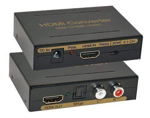 Conversor Extractor Audio Hdmi A Rca Toslink 5.1 Caballito