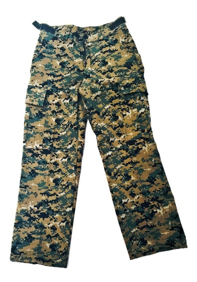 Pantalón Para Niño Camuflaje Digital Pixel Verde Marpat