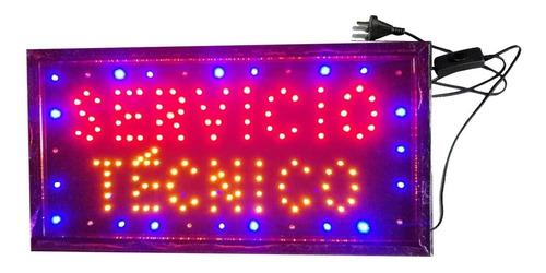 Cartel Luminoso Led Servicio Tecnico 48 X 25 Oferta Especial