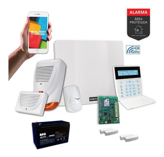Alarma Para Casa Wifi +sensor Magnético Kit +cableado