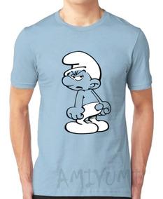 Camiseta Smurf Camisa Desenho Anos 90 Infantil E Adulto