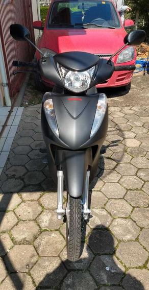 Honda Biz Es - 14/15 - Preto Fosco Baixa Km Todas Revisões