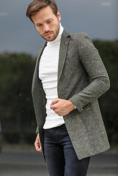 Jaqueta Masculino Cashmere Khaki