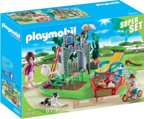Playmobil Super Set 70010 - Jardin Familiar