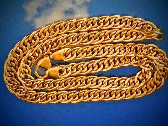 Colar Em Ouro 18k (750)-peso: 19.5 Gr, 46.5cm.