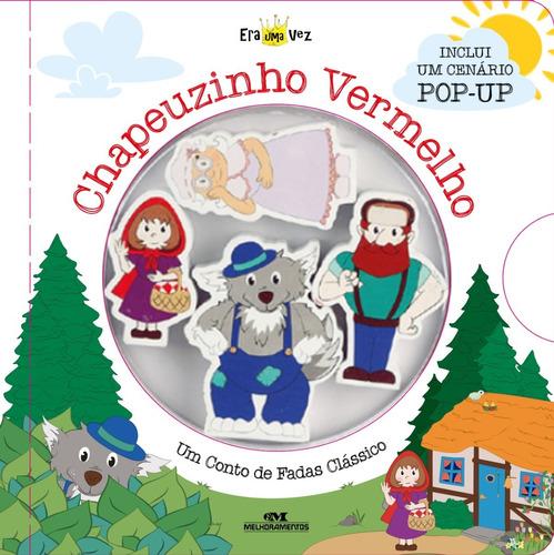Chapeuzinho Vermelho (cenário + 4 Personagens De Madeira)