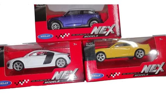 Set X 3 Autos Coleccion Metal Welly Nex Generation