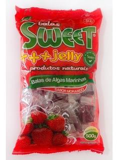 Balas De Algas Sweet Jelly Sabor Morango - 500g