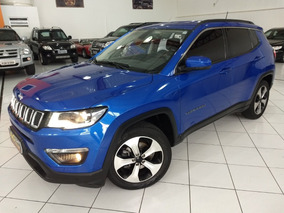 Jeep Compass Longitude 2017 Azul 2.0 Flex Aut Top Midia Rd18