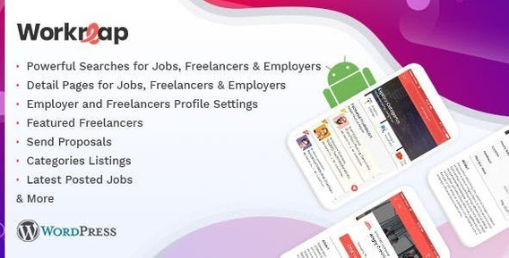 App Android Para Freelancers + Tema Wordpress Freelancer