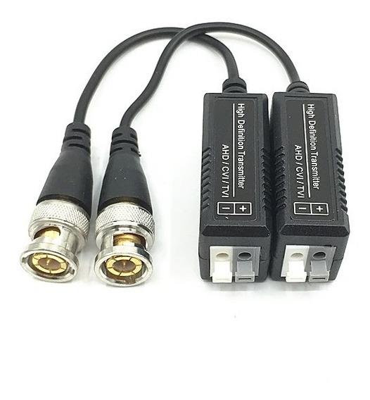 2 Conectores Video Balun Engate Rapido Cftv Ahd Hd Cvi Tvi
