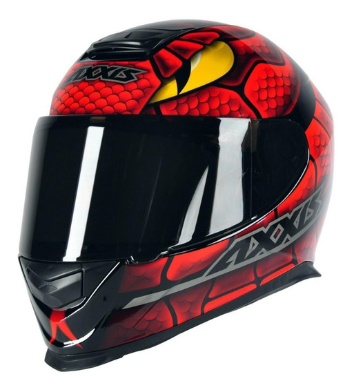 Capacete Motociclista Axxis Mt Eagle Snake - Vermelho