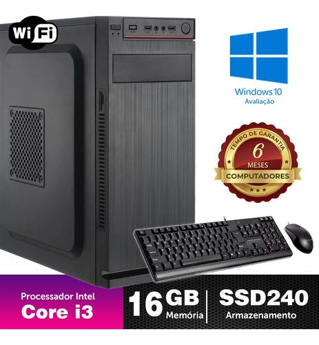 Desktop Bs Intel Core I3 2ªger 16gb Ssd240 4gb Ddr3