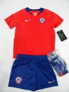 Kit Infantil Chile 2018-19 Camiseta Short Medias Nuevo Nike