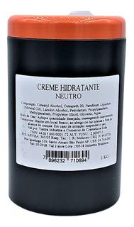 1 Litro Creme Hidratante Pote Com Aroma Ou Neutro Lembrança