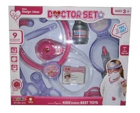 Juguete Set De Doctor 9 Pzas