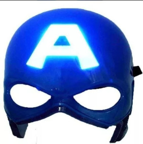 Mascara Luz De Led Acende Herois Vingadores Super + Baterias