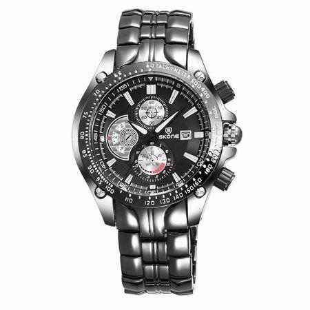 Relógio Masc.skone Analogico Preto-7384bg(submost.ilustrativ