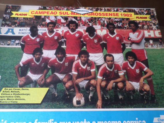 Poster Comercial Campeão Mato Grosso Sul 1982 Placar 21x27cm