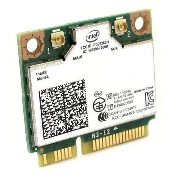 Placa De Rede Wifi/bluetooth - Mini Pci-e - Intel Wireless-ac 7260 (p/ Notebooks) - Int-7260br