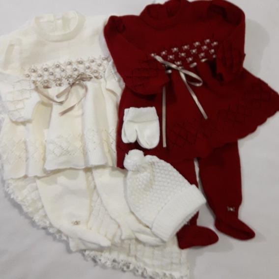 Maternidade 1 Manta 2 Vestidos 2 Calças Touca/luvas Ref.123