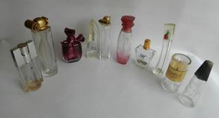 Lote D 10 Frascos Perfumeros, Perfume,vacios, No Antiguo Aps