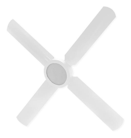 Ventilador Techo Luz Led Panel 18w Blanco 4 Palas Nuevo