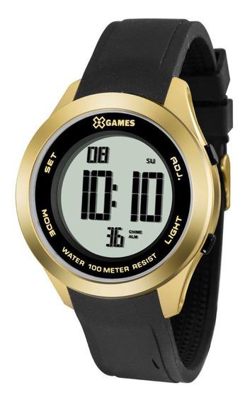 Relógio X-games Xmppd389 Bxpx Feminino Preto/dourado
