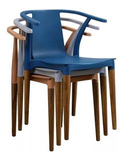 Silla Diseño Comedor Vintage Wood Estilo Eames Palta X4 Uni