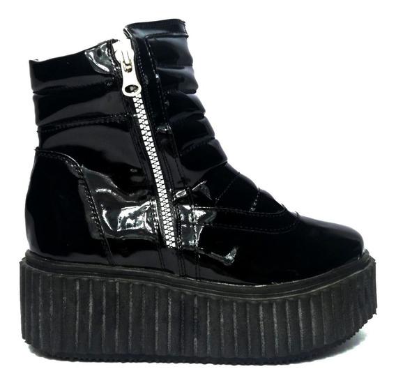 Botas Con Cierre Plataformas Botinetas Zapatos De Dama Bajas