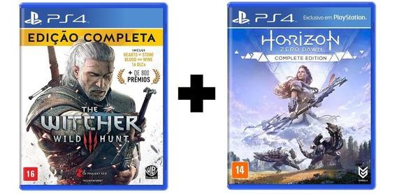 The Witcher 3 Edição Completa + Horizon Complete Edition Ps4