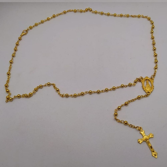 Terço De Pescoço Nossa Senhora Aparecida Dourado