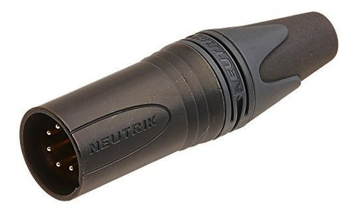 Neutrik Nc5mxxb Cable Macho 5pin Mt Acabado Negro Con Contac