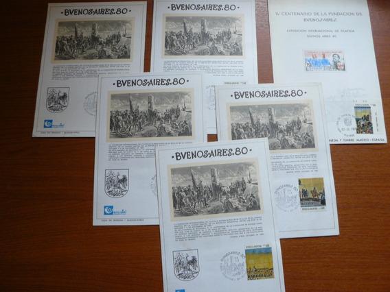 6 Tarjetas Rememorativas De Buenos Aires 80