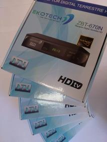 Kit 6 Unidades Conversor Tv Digital Ekotech Zbt 650n