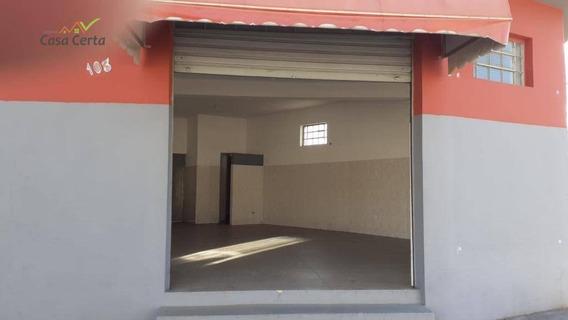 Salão Para Alugar, 50 M² Por R$ 550,00/mês - Jardim Ipê Pinheiro - Mogi Guaçu/sp - Sl0073