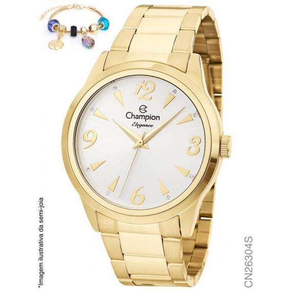 Relógio Champion Analógico Cn26304s Feminino + Semijoia