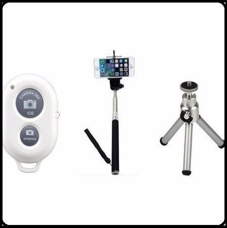 Pau De Self Mini Tripé De Celular Com Controle Bluetooth