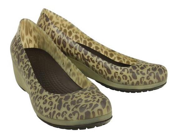 Sapato Anabela Wedge Salto 5cm Crocs Original Frete Gratis