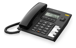 Teléfono Alámbrico T56 Negro Fijo Diseño Confort Alcatel
