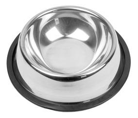 Comedouro Bebedouro Aço Inox Pet C/ Base Antiderrapante