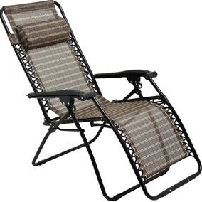 Cadeira Praia Piscina 21 Posições Sevilha Reclinável Marrom